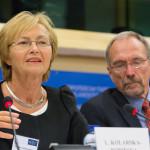 Prof. Lena Kolarska-Bobińska, Polish Minister of Science and Higher Education and Mr. Nils Torvalds, Member of the European Parliament