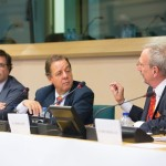 Mr. Nils Torvalds, Member of European Parliament, Mr. Xavier Prats Monné, Director-General of DG Education and Culture at the European Commission and Mr. Carlo D'Asaro Biondo, President of Southern & Eastern Europe, Middle East and Africa Operations at Google Inc.